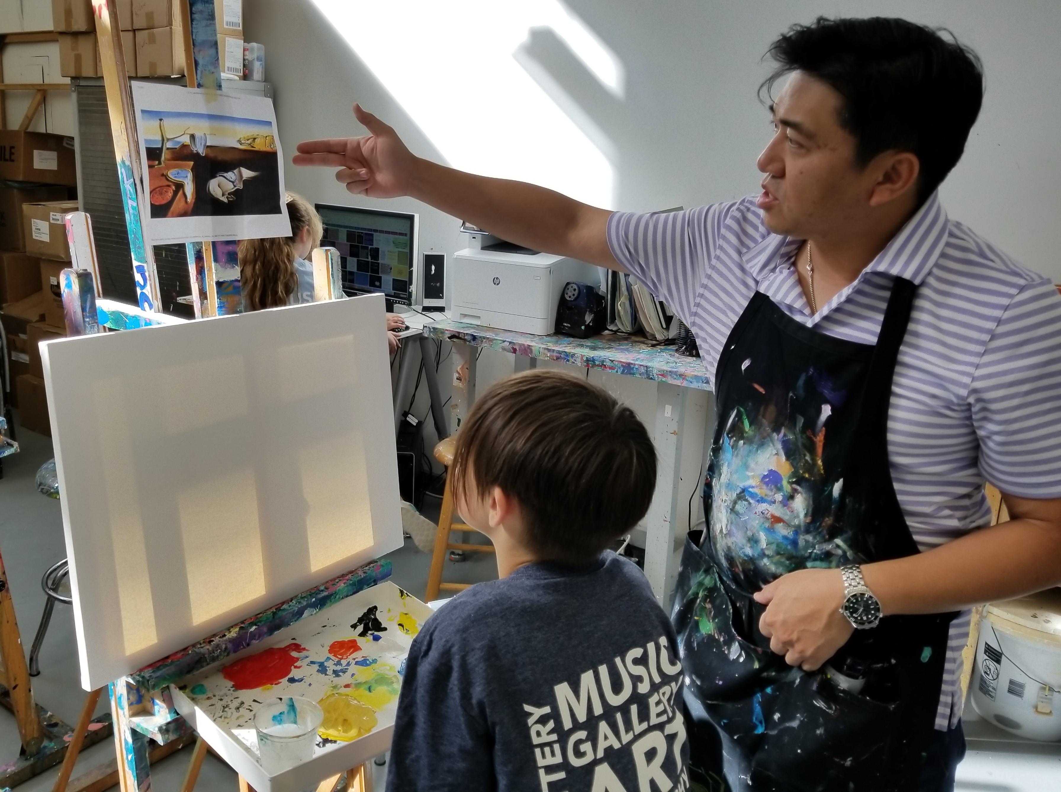 Zhen & Sebastian starting a new piece.