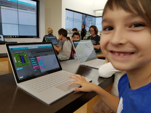 Sebastian coding at Microsoft