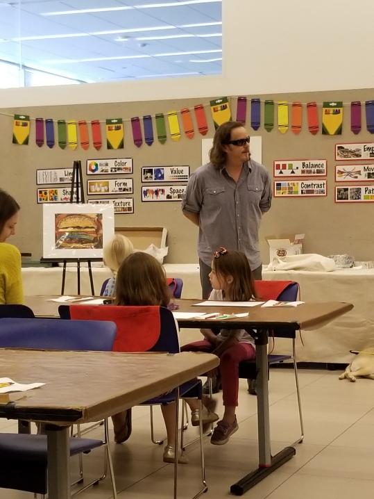 John Bramblitt, sharing how he paints.