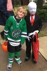 Slenderman and a Hockey Player