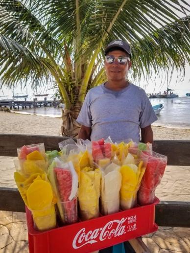 Beachside fruit vendor